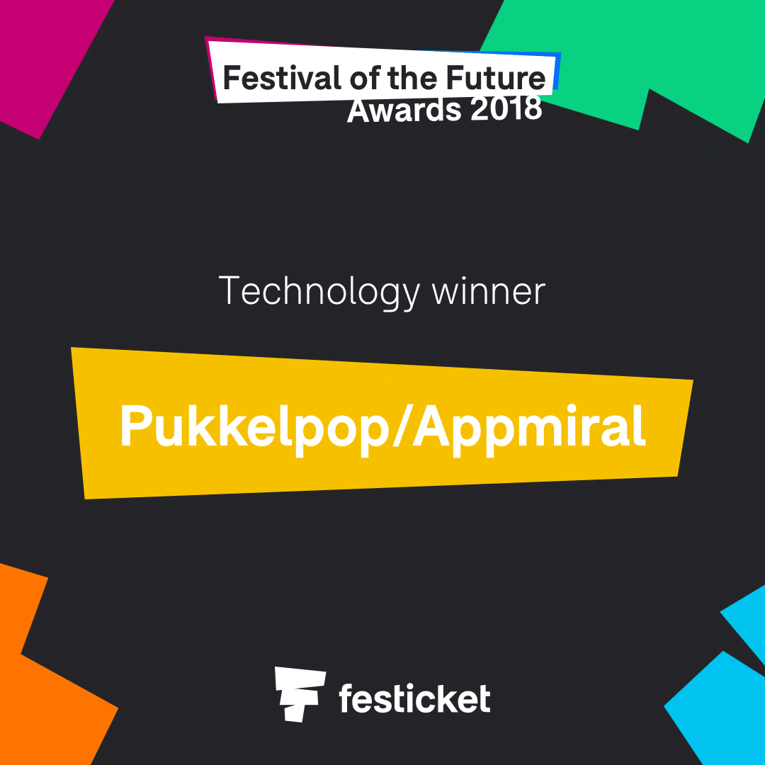 Festival of the future awards 2018 is Pukkelpop with Appmiral